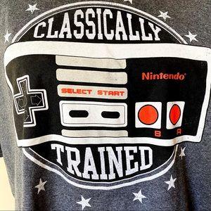 Nintendo NES Controller Mens T-Shirt XL Gray Black